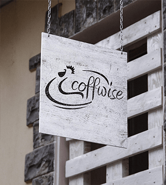 Coffwise Cafe Logo Design