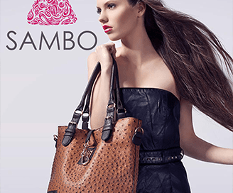Sambo Hand Bag Logo Design